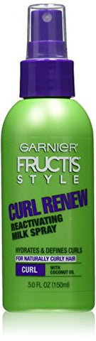 Garnier Fructis Style Curl Renew Reactivating Milk Spray, For Curly Hair, 5 oz. (Packaging May Vary)