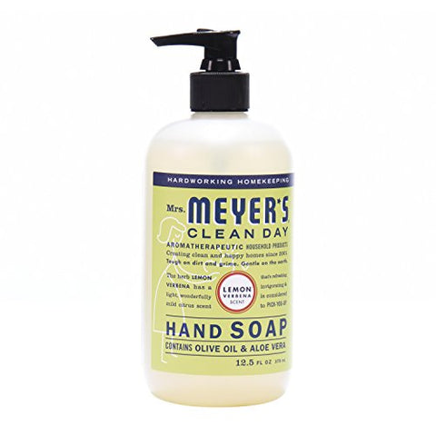 Mrs Meyers Hand Soap, Lemon Verbena, 12.5 Fluid Ounce