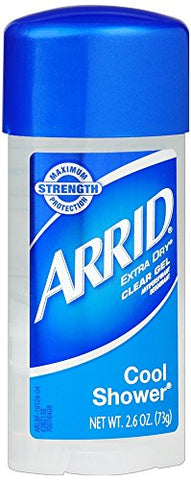 ARRID Extra Dry Anti-Perspirant Deodorant Clear Gel Cool Shower 2.60 oz