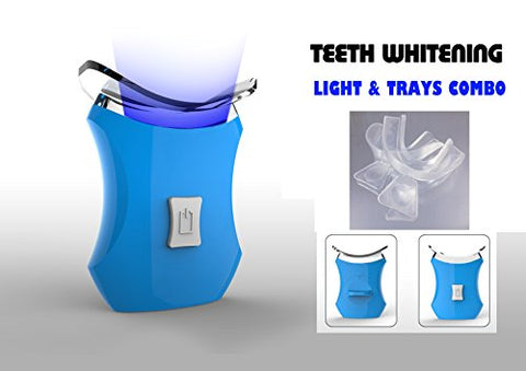Teeth Whitening Accelerator Light Blue, 6 X More Powerful with 2 Trays- VALUE PACK
