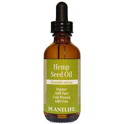 Organic Hemp Seed Oil 2 oz - 100% Pure Cold Pressed Base Oil for Aromatherapy