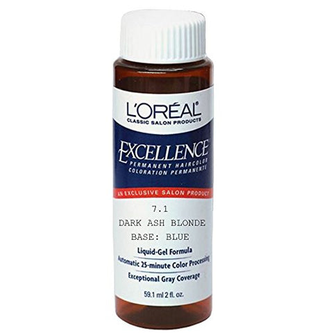 L'oreal Excellence Liquid Permanent Hair Color #7.1 Dark Ash Blonde