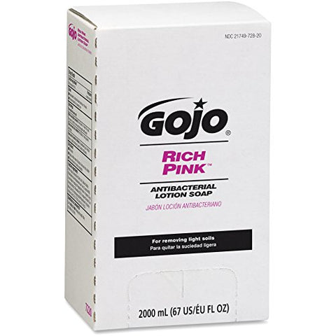 Gojo Lotion Soap,Antibacterial,2000mL,Citrus Scent,4/CT,Pink