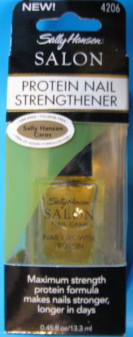 NEW SALLY HANSEN SALON PROTEIN NAIL STRENGTHENER # 4206, MAXIMUM STRENGTH PROTEIN FORMULA MAKES NAILS STRONGER, LONGER IN DAYS, 0.45 FL OZ, RETAIL $ 20 PLUS
