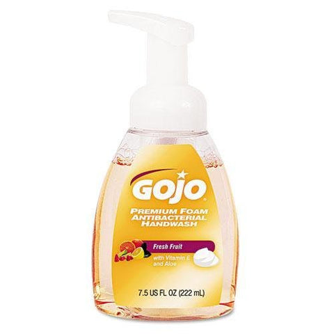 GOJ571006 - Premium Foam Antibacterial Hand Wash, Fresh Fruit Scent, 7.5 Oz Pump