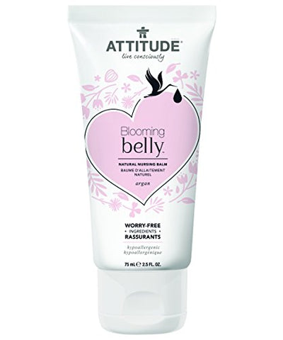 Attitude Natural Nursing Balm- Argan, Fragrance Free, 2.6 Fluid Ounce