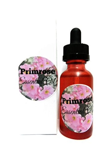 Primrose Essential Oil 1oz - 100% Pure Essential Oil in Red Glass Dropper Bottle with Childproof Lid