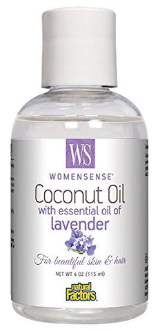 WomenSense Coconut Oil with Essential Oil of Lavender Natural Factors 4 oz Oil