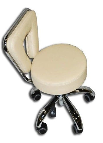 Beauty Spa Chair Pedicure Stool for Nail, Hair, Facial Technician (Short, CREME)