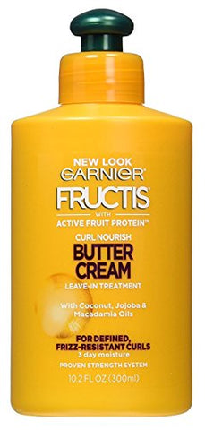 Garnier Hair Care Fructis Triple Nutrition Curl Moisture Leave-in Conditioner, 10.2 Fluid Ounce