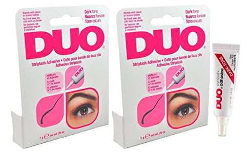 DUO Eyelash Adhesive DARK TONE For Strip Lashes world's best selling adhesive! - Size 0.25oz 7g