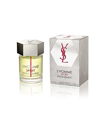 Yves Saint Laurent L'homme Sport Eau de Toilette Spray for Men, 3.3 Ounce