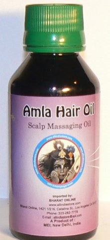Amla Oil hair oil without Paraffin 100 ml. for dryness, thinning,and premature greyness 100% Natural All India Store Brand Unique product only available from this store