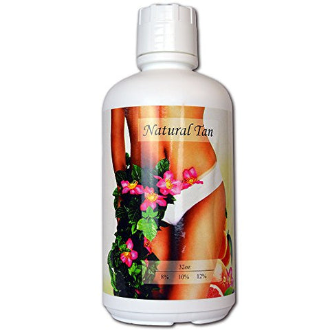 Natural Tan Super Fruit Infused 12% DHA Sunless Airbrush Spray Tanning Solution Gallon - (ships in 4 qts)