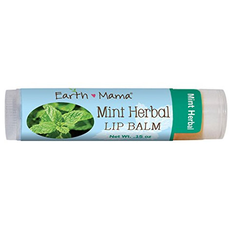 Earth Mama Angel Baby, Mint Herbal Lip Balm, .15 oz (4 ml) - 3PC