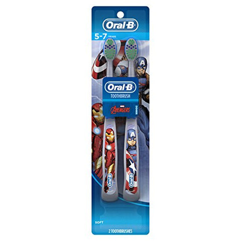 Oral-B Pro-Health Stages Avengers Assemble Toothbrushes (Soft) 5-7 Years, Twin Pack