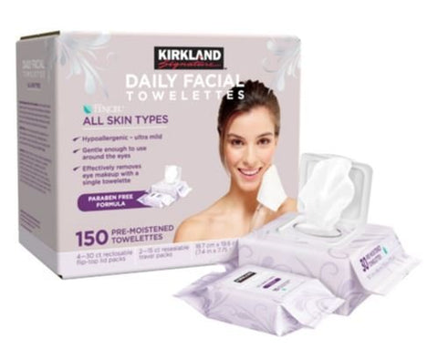 Kirkland Daily Facial Towelettes - 150 ct