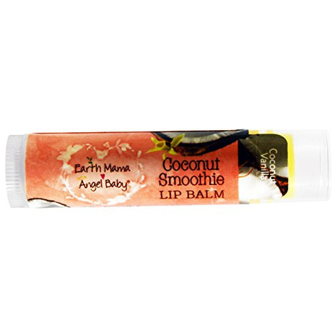 Earth Mama Angel Baby, Coconut Smoothie Lip Balm, Coconut Vanilla, .15 oz (4 ml) - 2pc