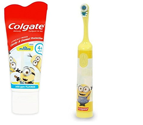 Colgate Children's Powered Toothbrush and Toothpaste (Minions ~ Yellow)