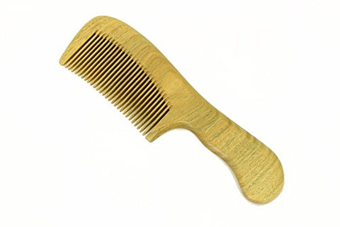 Medium Tooth Comb Handmade Sandalwood Comb with Handle - WC006