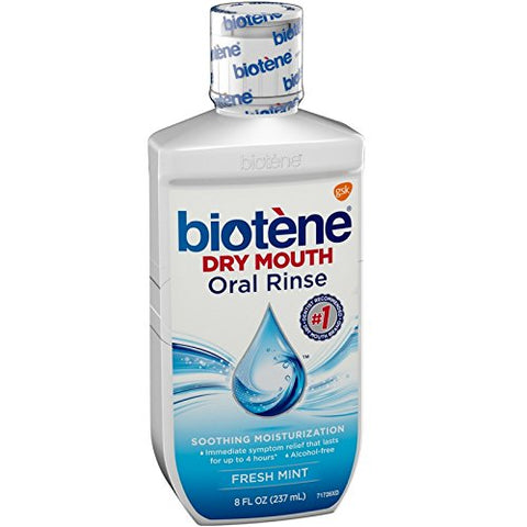 Biotene Dry Mouth Oral Rinse Fresh Mint 8 oz