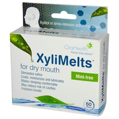 Xylimelts For Dry Mouth - Mint Free - 60 Pieces