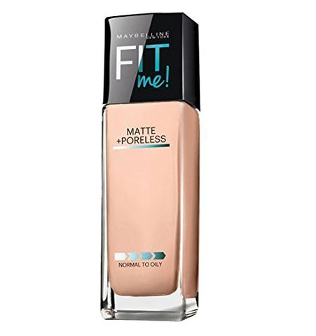 Maybelline New York Fit Me Matte Plus Poreless Foundation Makeup, 115 Ivory, 1 Fluid Ounce, 30 ml