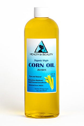 Corn / Maize Oil Unrefined Organic Virgin Raw Cold Pressed Premium Fresh Pure 32 oz