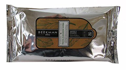 Beekman 1802 Facial Cleansing Wipes in Sweet Grass