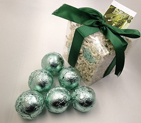 LEMONGRASS & SAGE GIFT SET with 6 Bath Bomb Fizzies with Shea, Mango & Cocoa Butter, Ultra Moisturizing (14 Oz) Great for Dry Skin, All Skin Types (Lemongrass & Sage)