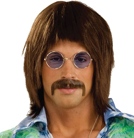 Adults Fancy Party Accessory New Hippy John Lennon 1960's Retro Style Men's Wig