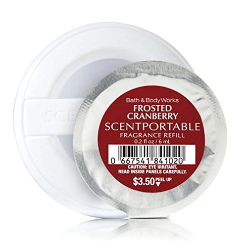 Bath & Body Works - Scentportable Fragrance Refill Disc - Frosted Cranberry - 2 Pack. 0.2 oz each disc.