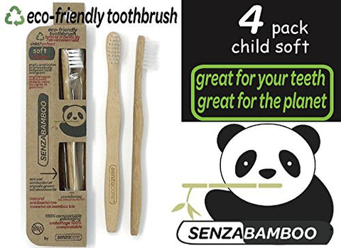 Child Size SenzaBamboo Eco-friendly Toothbrush (soft bristles) (4)