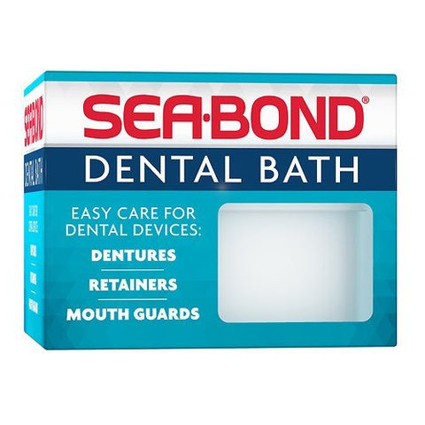 Sea-Bond Dental Bath for Dentures, Retainers and Guards 1 ea