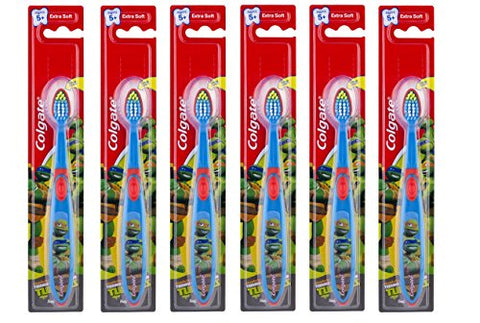 Colgate Kids Toothbrush Teenage Mutant Ninja Turtles, Ages 5 and Up, Extra Soft