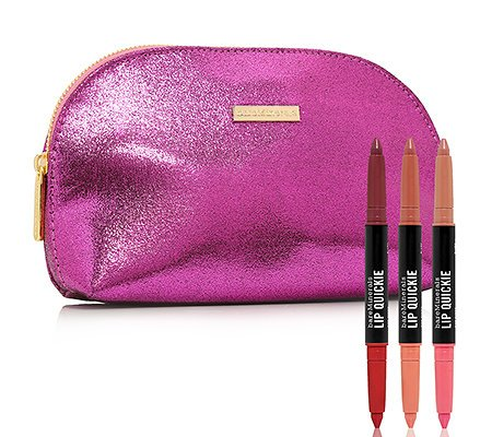 BareMinerals Pretty Pairs 3 Piece Lip Quickie Collection Plus Clutch