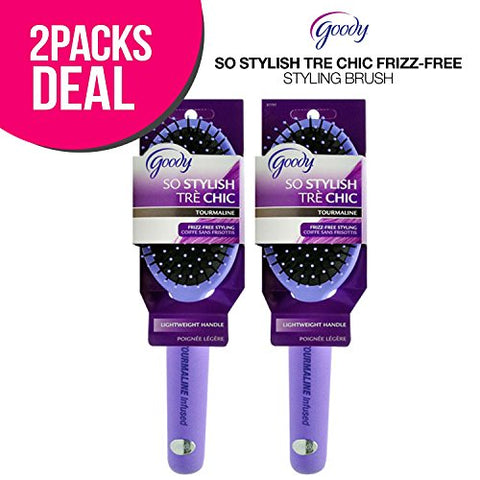 ! Goody So Stylish Tre Chic Frizz-Free Styling Brush, Cushion Styler