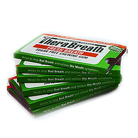 Therabreath Fresh Breath Plus Gum Vanilla Mint Sugar Free