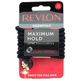 Revlon Extra Thick Black Hair Elastics, 15 Count