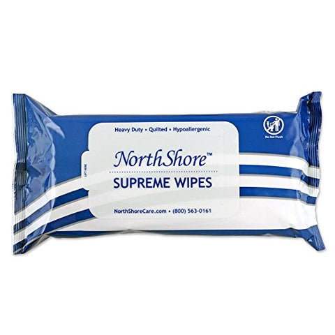 NorthShore Supreme Heavy-Duty Quilted Wipes, X-Large, 9 x 13 in., Case/600 (12/50s)