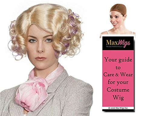 Fee Trinkket Hunger Color Blonde / Lavender - Enigma Wigs Women's Banks Games Futuristic Bundle with Wig Cap, MaxWigs Costume Wig Care Guide