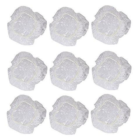 KINGLAKE 100 Pcs Disposable Shower Water Ear Protector Covers Clear Comfortable Fit,Protect Ears From Water,Stains