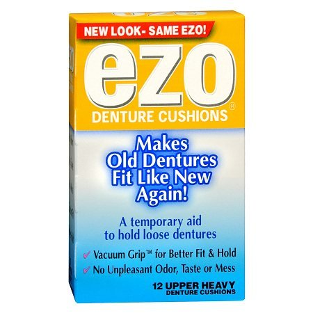 Ezo Upper Denture Cushions, Heavy - 3PC