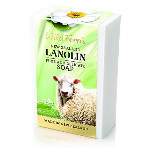 Wild Ferns New Zealand Lanolin Pure and Delicate Soap