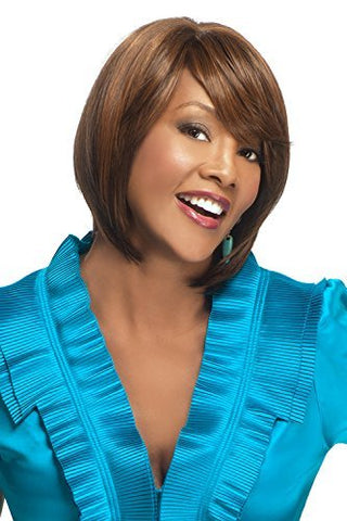 Vivica A. Fox ESTEE-V New Futura Heat Resistant Fiber PS Cap Wig in Color 1B