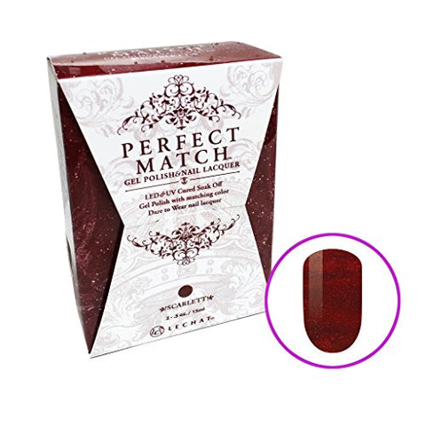 Lechat Perfect Match Gel + Nail Polish  Lush Red Collection  192 Scarlett