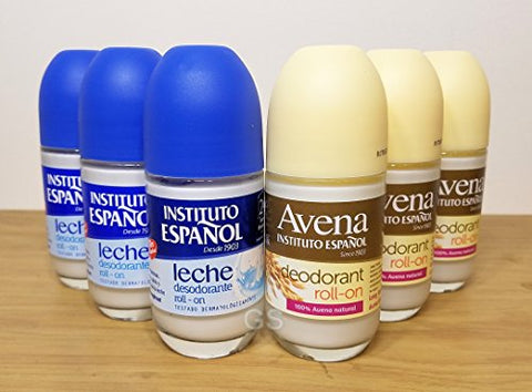 Instituto Espanol Deodorant Avena & Leche Roll On Combo .. 080585090197 .. antiperspirant roll-on beauty makeup men woman bath desodorante shower shampoo conditioner body products