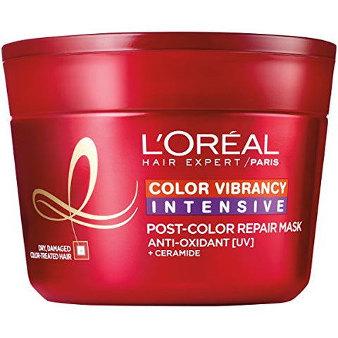 L'Oral Paris Hair Expert Color Vibrancy Intensive Ultra Recovery Mask, 8.5 fl. oz. (Packaging May Vary)