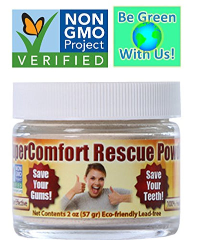 Gum Disease - Recession RESCUE TOOTH POWDER - Prevent Gum Disease, Gum Recession, Plaque, Toothache, Gingivitis, Root Canal, Bleeding Gums, Sensitivity, Inflammation, Cavities, Bad Breath