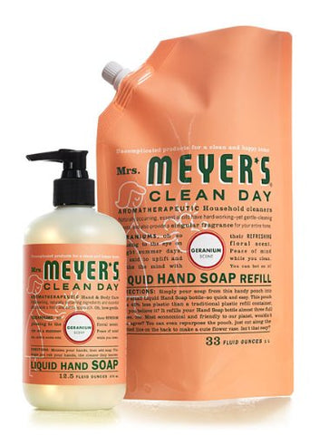 Clean Day Hand Soap and Refill Set Flavor: Geranium